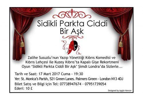 Upcoming event: Sidikli Parkta Ciddi Bir Aşk