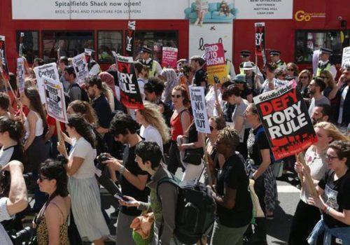 Londra Yangını: Öfke artarken, kentte eylemler