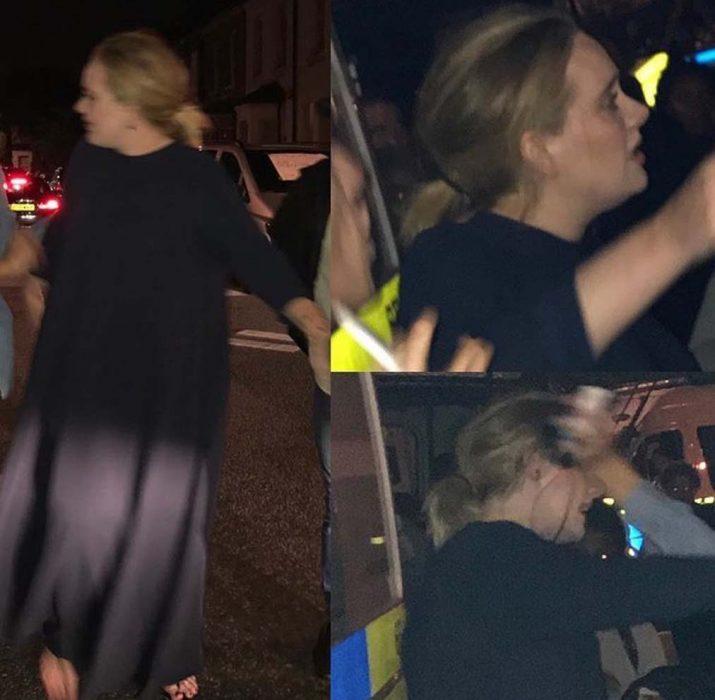 Adele, gözyaşlarına boğuldu
