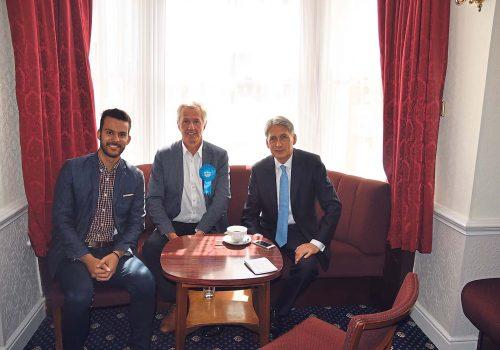 UK Chancellor Philip Hammond talks to Londra Gazette