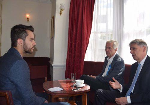Maliye Bakanı Philip Hammond Londra Gazete'ye konuştu