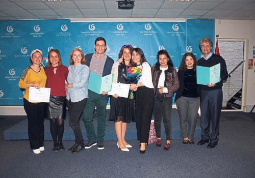 Turkish language graduates are handed their diplomas in London