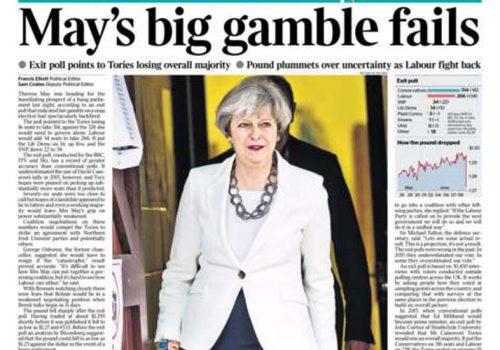 İngiliz gazetelerinde May'in seçim yenilgisi