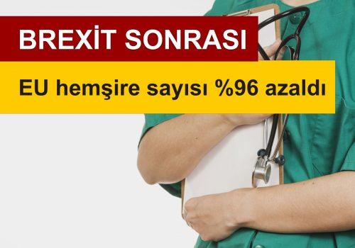 Brexit'ten sonra EU hemşire başvuruları %96 azaldı