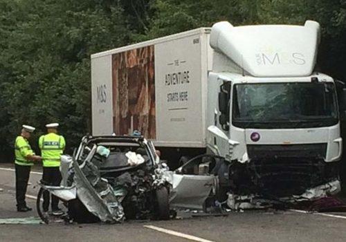 Man sees crash that kills wife and step-children in Devon