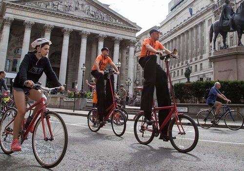 Londra'da Bisiklet Festivali düzenlendi