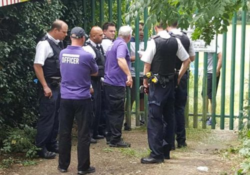 Police in standoff with travellers after 'violent' break-in in Chingford