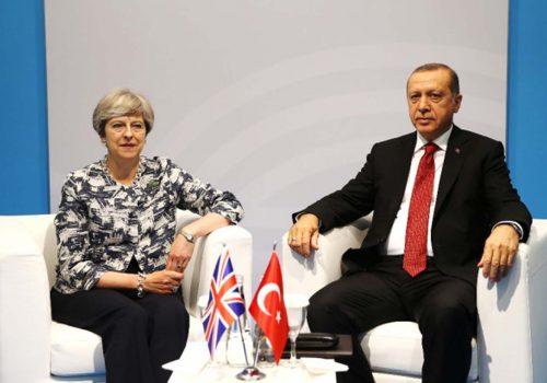 Erdoğan-May görüşmesi