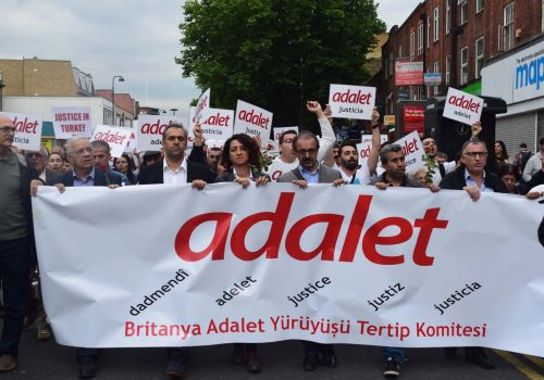 """London joins the """"Justice March"""" of Turkey"""