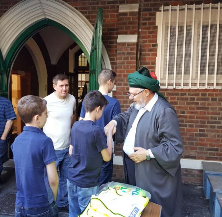 Eid greetings took place at New Peckham Mosque