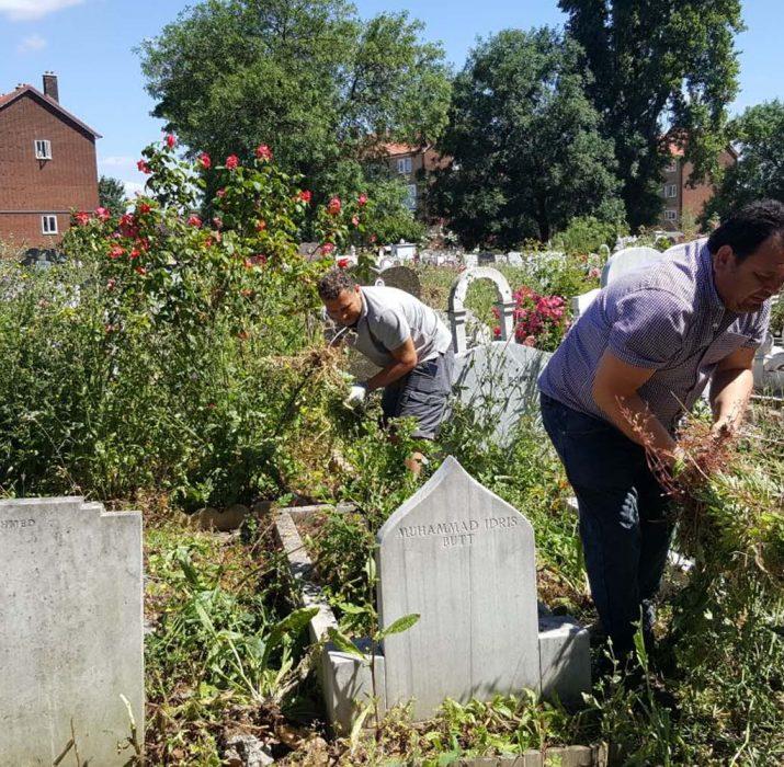 Tottenham cemetery was cleaned by local volunteers