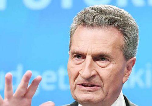 Oettinger: AB ülkeleri vaad edilen parayı finanse etmeli