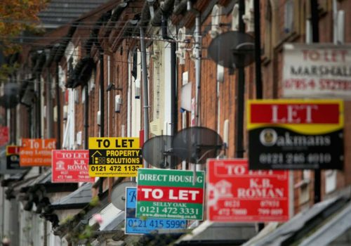Rents in London are falling as the capital's stagnant market drags back the rest of the UK