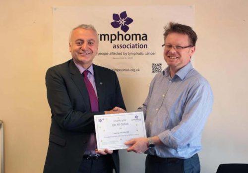 Lymphoma Association gets £71k through Mayor of Haringey Cllr Ali Gul Ozbek's Special Fund Appeal