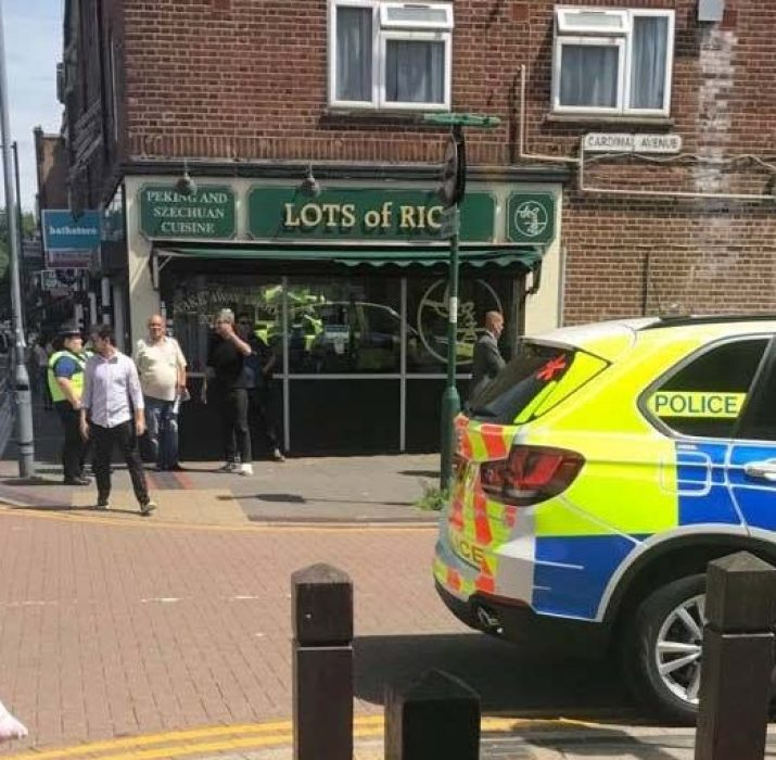 Armed police called to an incident in Borehamwood