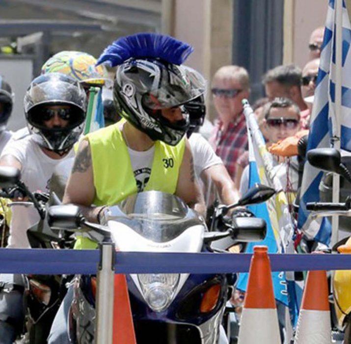 Rum motosikletli eylemciler şimdi de Bostancı Sınır Kapısı'nda