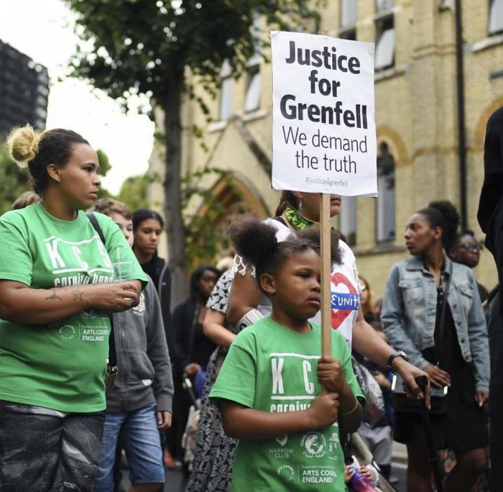 Hundreds join silent march demanding justice for Grenfell