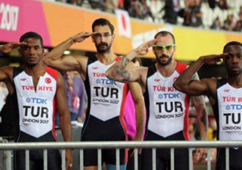 4X100 metre bayrakta Türkiye dünya yedincisi