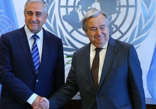 Cumhurbaşkanı Akıncı, Guterres'le bir araya geldi