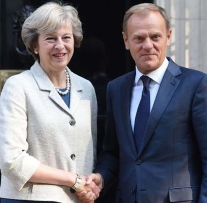 Theresa May to meet Donald Tusk for talks
