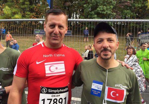 Kıbrıslı Türk atlet Great North Run'da koştu