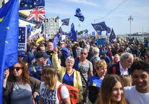 İngiltere'de Brexit karşıtı protesto