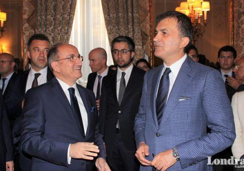 AB Bakanı Ömer Çelik, Londra Büyükelçiliğini ziyaret etti