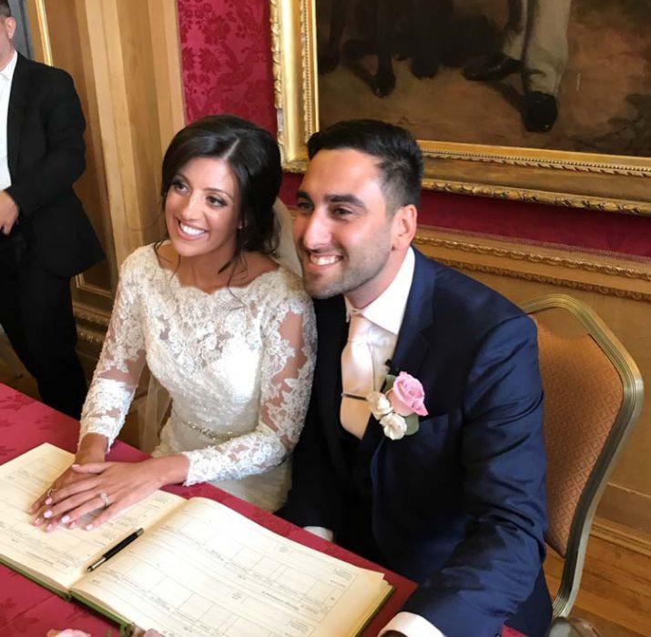 Kıbrıslı genç işadamı evlendi