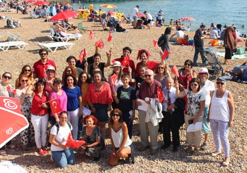 30 August Victory day was celebrated in Brighton