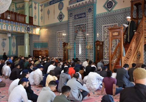 Eid was celebrated in London at religious centres