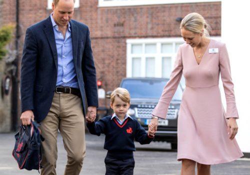 Küçük Prens George okula başladı