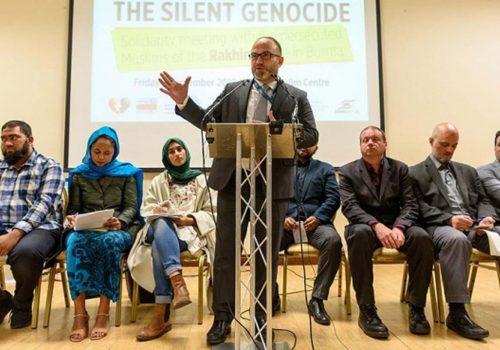 Londra'da Rohingya müslümanları, konferansı düzenlendi