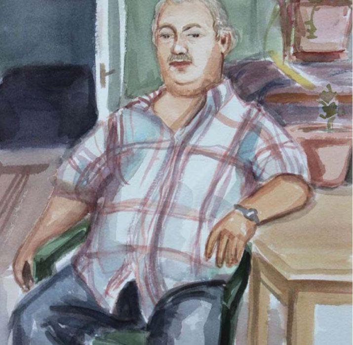 Turkish-Cypriot poets Portrait by Matthew Krishanu