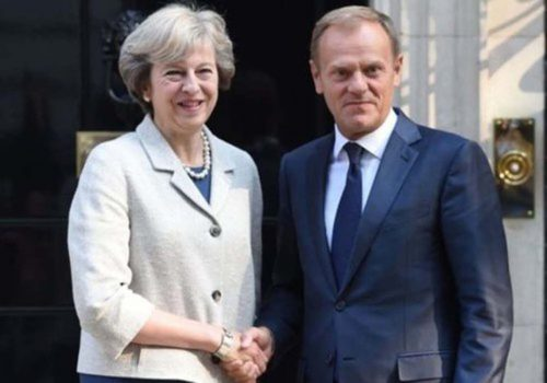 Theresa May to meet Donald Tusk for talks
