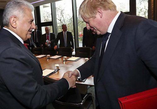 Başbakan Yıldırım, Johnson ile görüştü