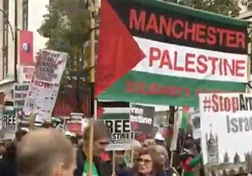 Londra'da Balfour protestosu