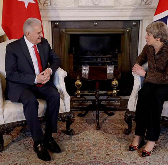 Turkish PM Yıldırım, UK PM May discuss anti-terror fight, Middle East