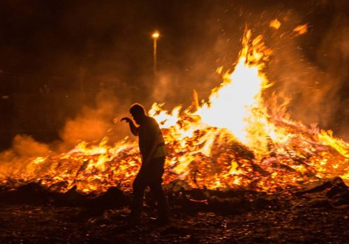 'Bonfire Night' festival was the scene of colourful images