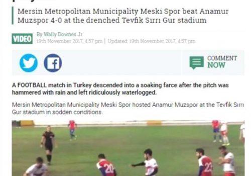 Mersin'deki futbol maçı, İngiltere'de gündem oldu