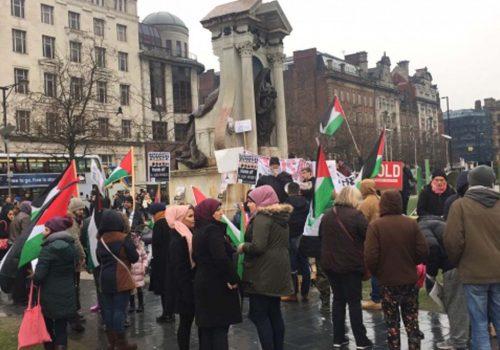 ABD'nin Kudüs kararı Londra'da protesto edildi