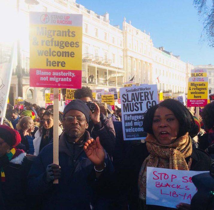 Londra'da kölelik karşıtı protesto
