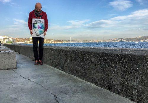 Sümer Erek, remembers Muharrem Özdemir with his art performance