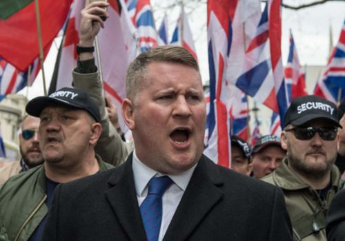 Britain First lideri Belfast'ta gözaltına alındı