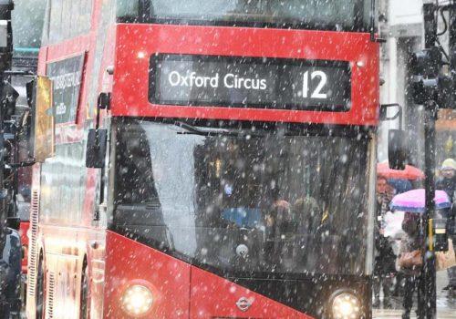 İngiltere'de kar engeli