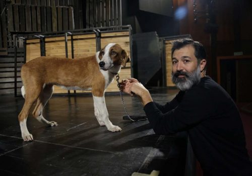 Shelter dog steals spotlight in 'Of Mice and Men'