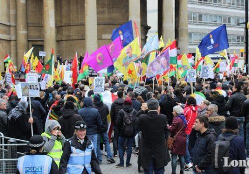 DGB Londra'da Zeytin Dalı'nı protesto etti