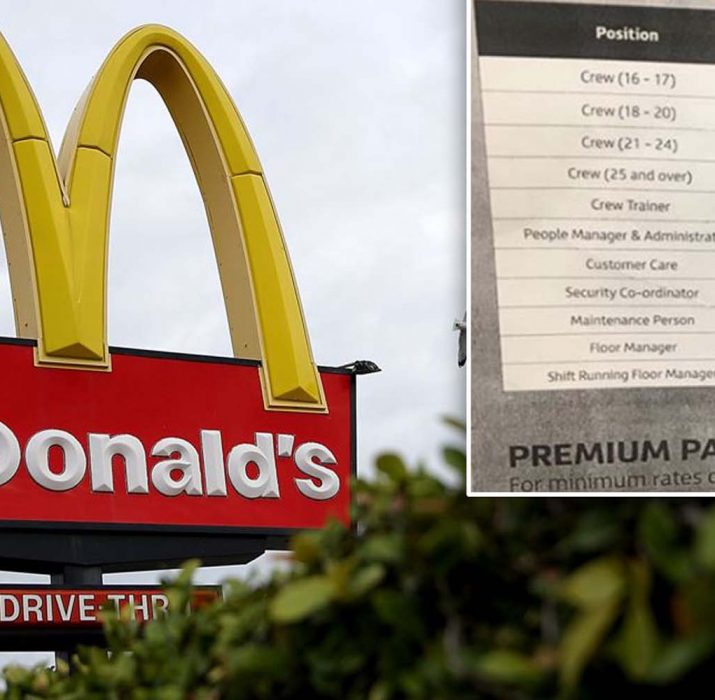 McDonald's gives workers biggest pay rise in ten years