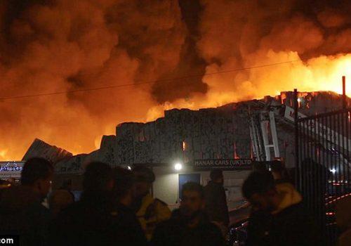 """Inferno"" at Staples Corner"