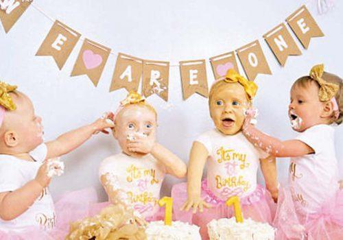 İkizlere ikiz pasta