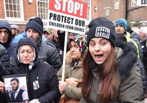 Protest against British authorities for Hasan Ozcan